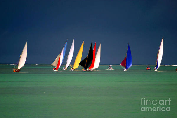 Wall Art - Photograph - Pirogues On The Horizon In Front Of by Paul Banton