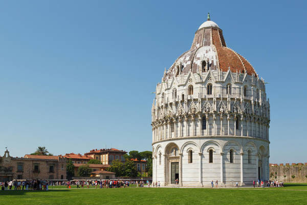 Welsh Church Photograph - Pisa, Italy. Baptistry In Campo Dei by Ken Welsh