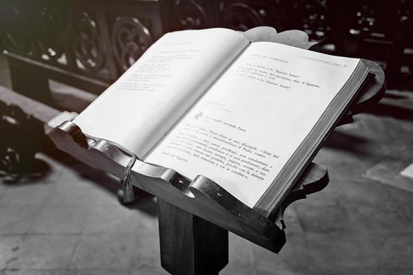 Photograph - Pisa Italy Church Prayer Book by Joan Carroll