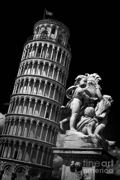 Wall Art - Photograph - Pisa Tower Black And White by Delphimages Photo Creations