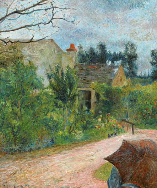 Wall Art - Painting - Pissarro's Garden, Quai Du Pothuis, Pontoise, 1881 by Paul Gauguin
