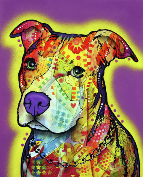 Wall Art - Painting - Pitbull 2 by Dean Russo Art