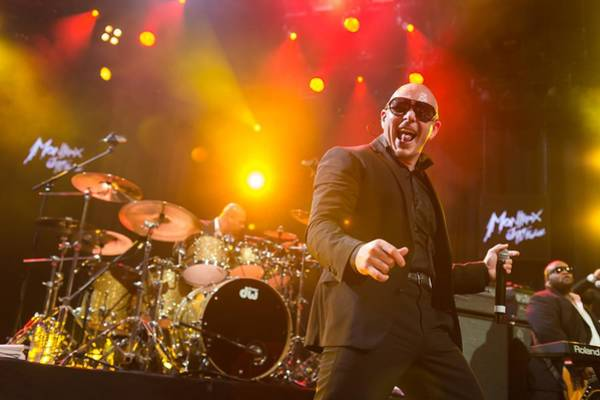 Pitbull Photograph - Pitbull Performing At The Montreux Jazz by A163