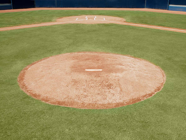 Team Sport Photograph - Pitchers Mound On Baseball Field by Whit Preston
