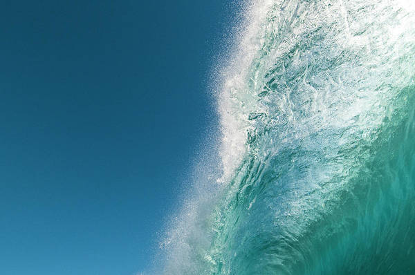 Rarotonga Photograph - Pitching Lip Of A Breaking Wave by Thomas Pickard