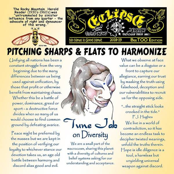 Drawing - Pitching To Harmonize By Tune Jab by Dawn Sperry