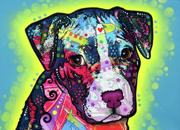Wall Art - Painting - Pitty Puppy by Dean Russo Art