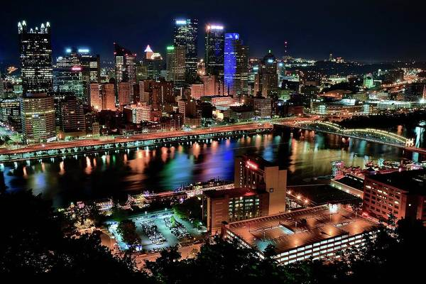 Wall Art - Photograph - Pittsburgh Alight And Aglow by Frozen in Time Fine Art Photography