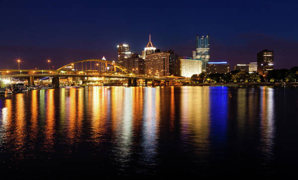 Wall Art - Photograph - Pittsburgh Skyline At Night by Alexey Stiop
