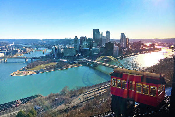 Wall Art - Photograph - Pittsburgh View Above The Duquesne Incline. by Art Spectrum