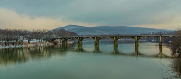 Photograph - Pittston Pennsylvania Susquehanna River Fort Jenkins Bridge by Bill Cannon