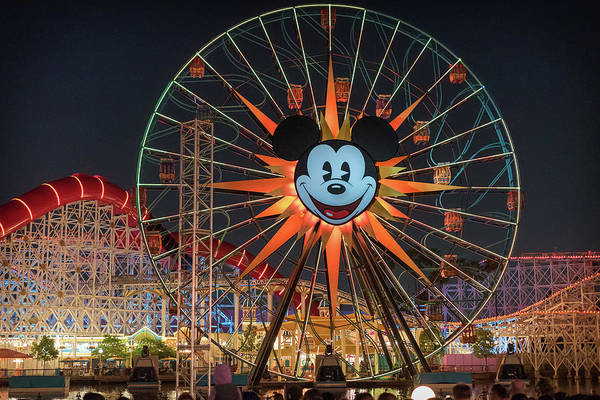 Wall Art - Photograph - Disney Pixar Pal-a-round, Mickeys Fun Wheel by Preston Broadfoot