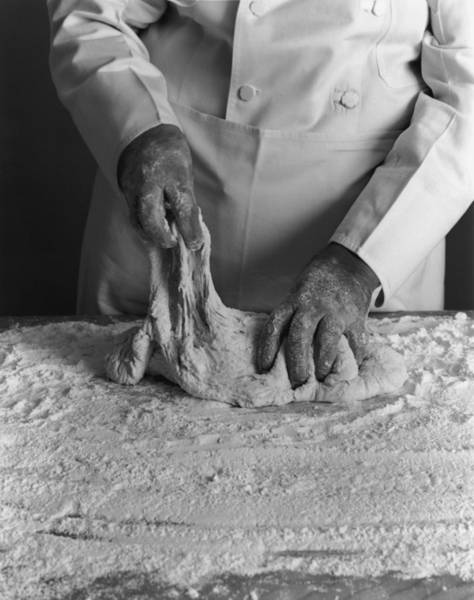 Pizza Photograph - Pizza Dough by American Stock Archive