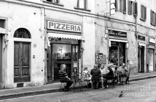 Photograph - Pizza In The Street Florence by John Rizzuto
