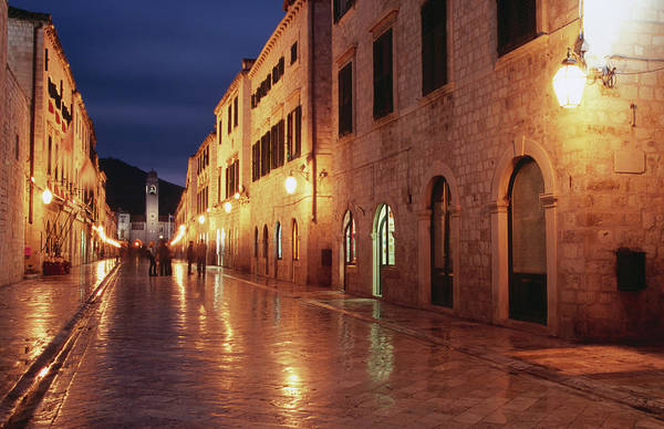 Dubrovnik Photograph - Placa At Twilight, Dubrovnik, Croatia by Lonely Planet