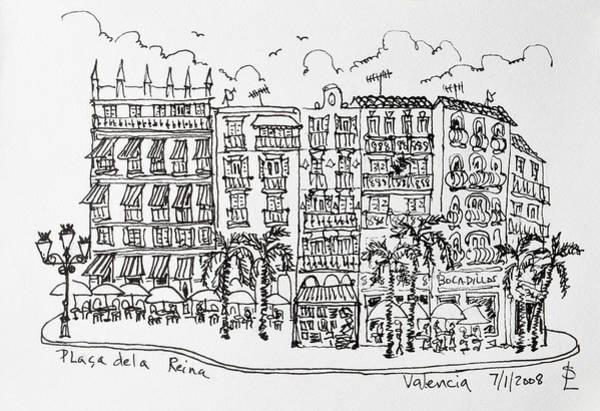 Outdoor Cafe Photograph - Placa De La Reina In Valencia, Spain by Richard Lawrence