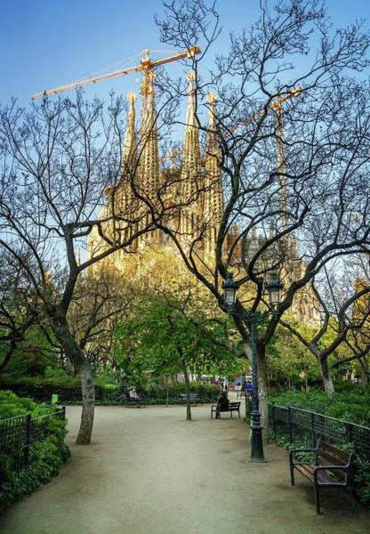 Wall Art - Photograph - Placa De La Sagrada Familia by Alexey Stiop