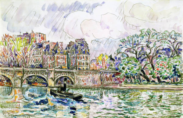 Wall Art - Painting - Place Dauphine - Digital Remastered Edition by Paul Signac