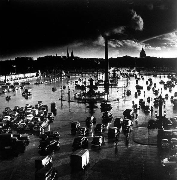 Photograph - Place De La Concorde.  Photo By Gordon by Gordon Parks
