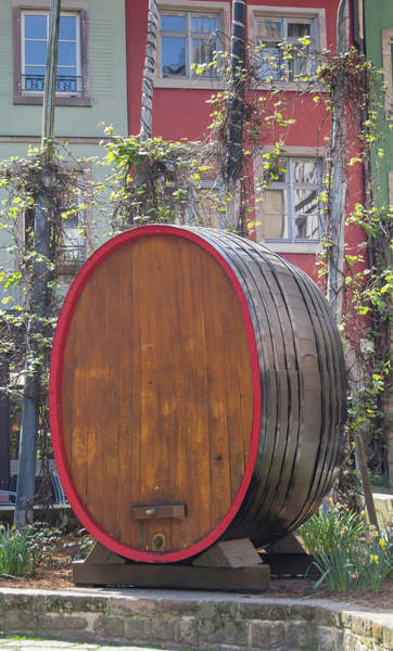 Wall Art - Photograph - Place Des Tripiers Wine Barrel by Teresa Mucha
