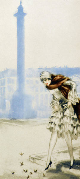 Wall Art - Painting - Place Vendome - Digital Remastered Edition by Louis Icart