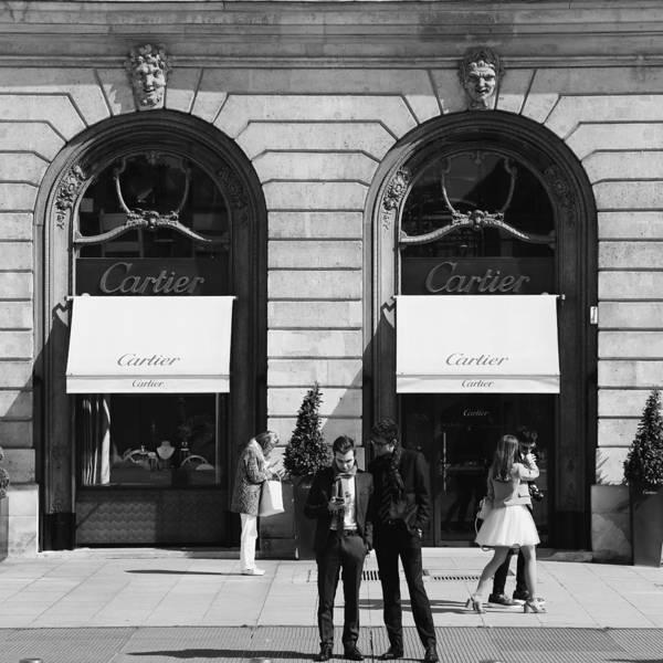 Photograph - Place Vendome Paris 2 Bw by Andrew Fare
