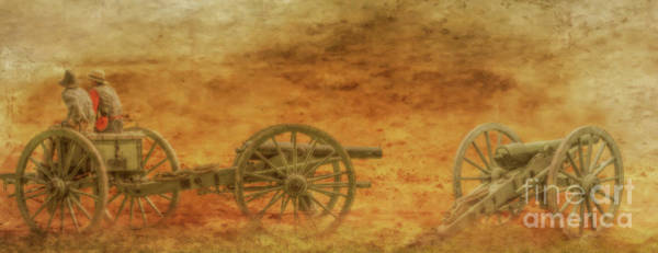 Wall Art - Digital Art - Placing The Cannon Civil War  by Randy Steele