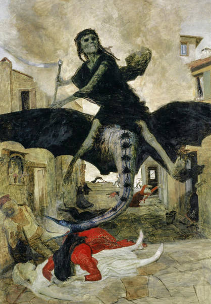 Wall Art - Painting - Plague, 1898 by Arnold Bocklin
