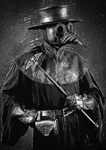 Wall Art - Digital Art - Plague Doctor by Zapista Zapista