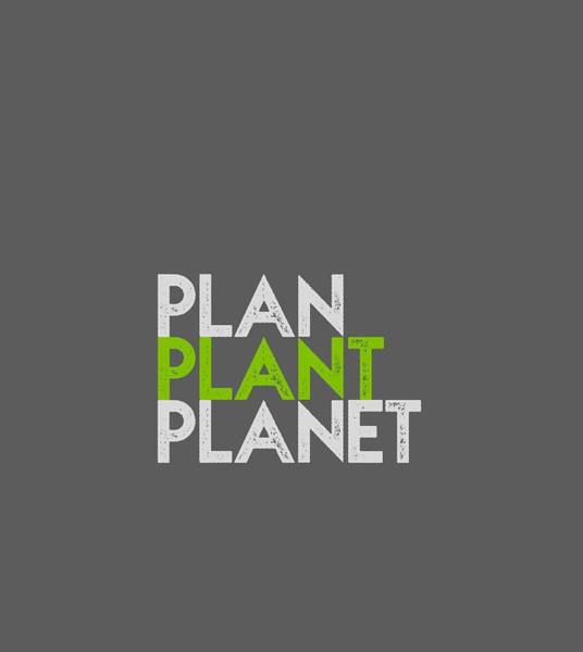 Drawing - Plan Plant Planet - Green And Gray Shifted Down Spacing by Charlie Szoradi