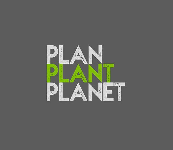Drawing - Plan Plant Planet - Green And Gray Standard Spacing by Charlie Szoradi