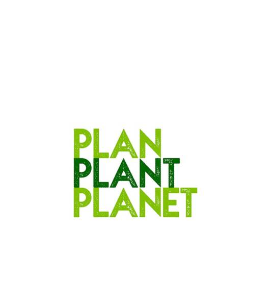 Drawing - Plan Plant Planet - Two Greens Shifted Down Spacing by Charlie Szoradi