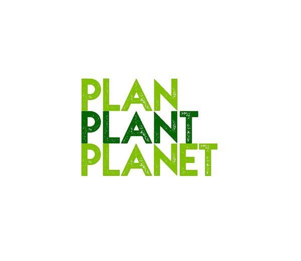 Drawing - Plan Plant Planet - Two Greens Standard Spacing by Charlie Szoradi