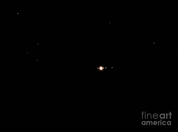 Photograph - Planet Jupiter And Four Moons by Kevin McCarthy