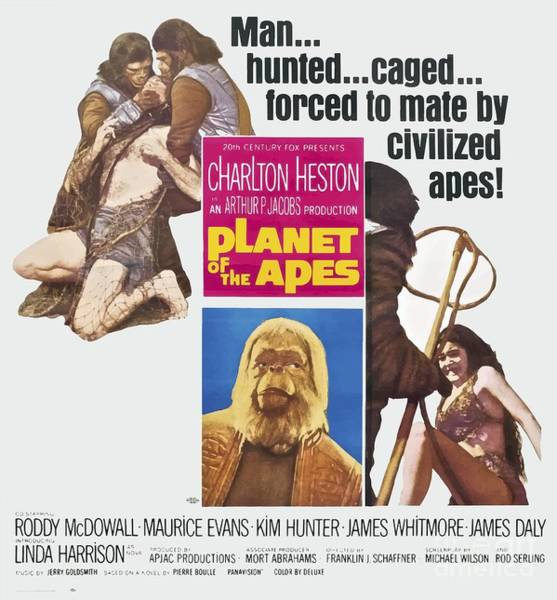 Mixed Media - Planet Of The Apes 1968 by Kultur Arts Studios