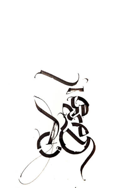Drawing - Planets. Calligraphic Abstract  by Dmitry Mandzyuk