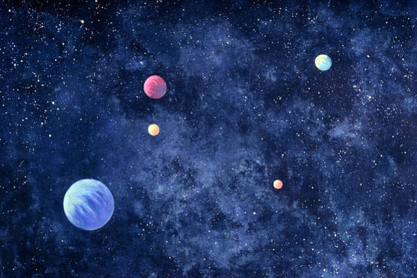 Multi Media Photograph - Planets In Solar System by Huntstock