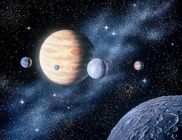 Color Image Digital Art - Planets by Shilo Sports