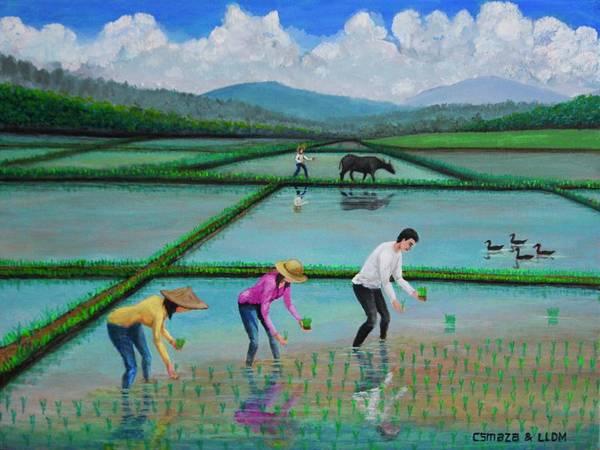 Painting - Planting Season 2 by Cyril Maza