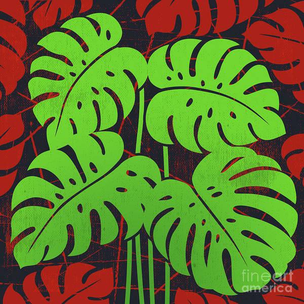 Wall Art - Digital Art - Plants - Philodendron#2_green by Bobbi Freelance