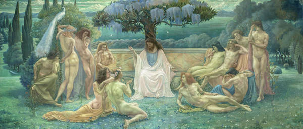 Greek Icon Painting - Plato's School - L'ecole De Platon, 1898 by Jean Delville