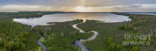 Wall Art - Photograph - Platte Lake Aerial by Twenty Two North Photography