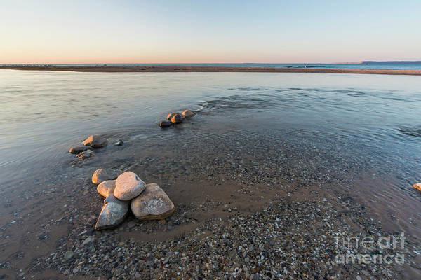 Wall Art - Photograph - Platte River Mouth At Sunset by Twenty Two North Photography