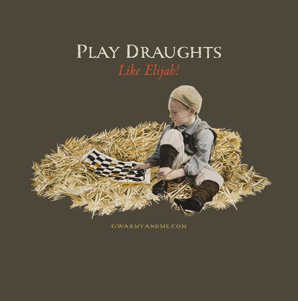 Painting - Play Draughts Like Elijah by 18th Century Slang