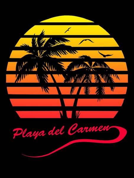 Wall Art - Digital Art - Playa Del Carmen Sunset by Filip Hellman