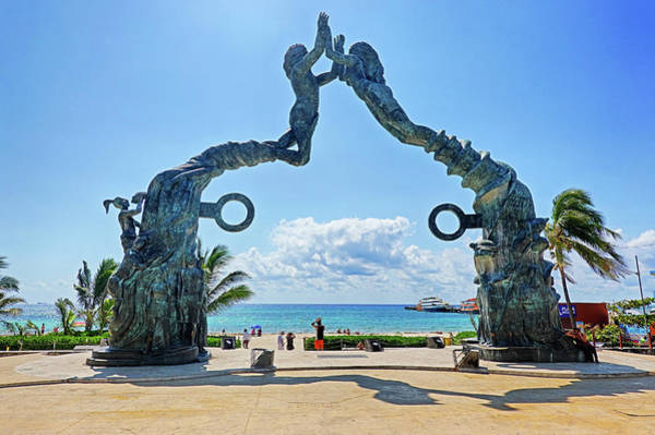 Photograph - Playa Del Carmen Welcome Gate Mexico by Toby McGuire