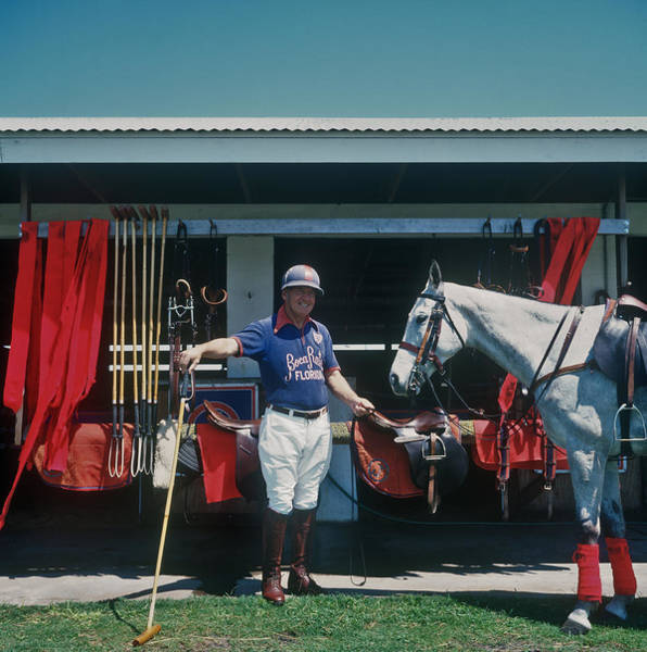 Horse Photograph - Player And Mount by Slim Aarons