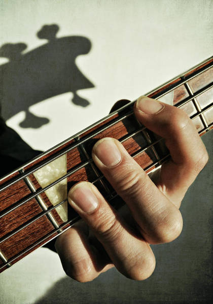 Randle Photograph - Playing Bass Guitar by Photo - Lyn Randle