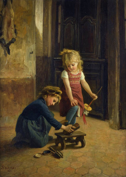 Wall Art - Painting - Playing Bootblack by Paul Seignac