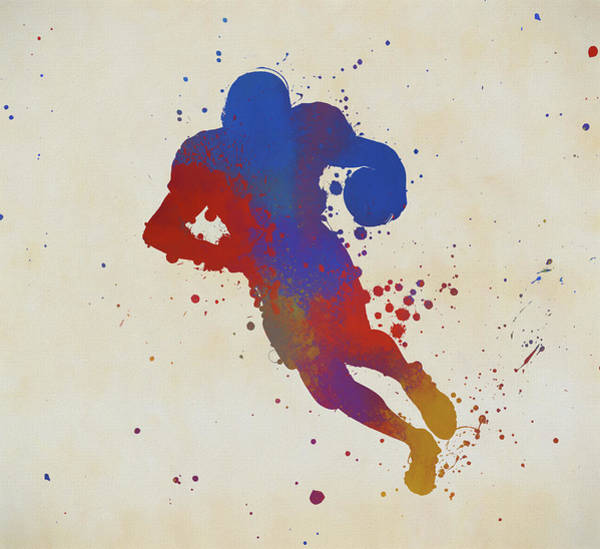 Painting - Playing Football  by Dan Sproul